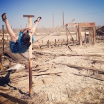 Shoulder Mount in the Sunken Trailer Park at Bombay Beach on The Salton Sea (CA)