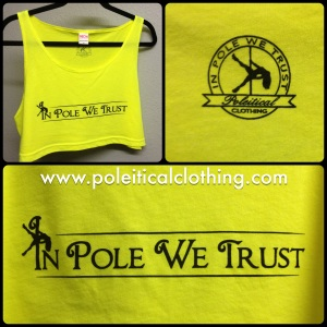 In Pole We Trust Cropped Tank in Yellow