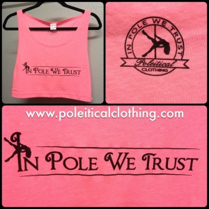 In Pole We Trust Cropped Tank in Pink