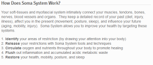 How Does Soma System Work, from their website