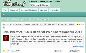 Live Tweet of PSO National Championships on ChirpStory