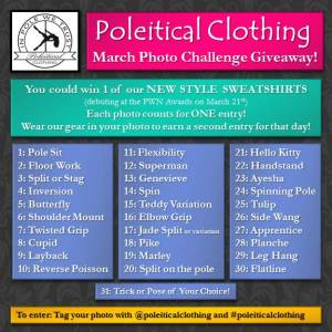Poleitical Clothing's March Giveaway on Instagram