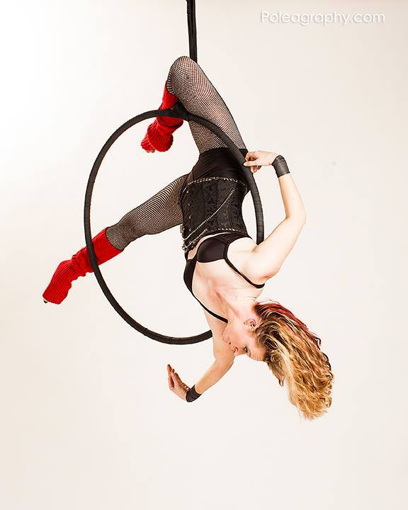 Instructor Jane of Aeriform Arts. Photo by Poleagraphy.