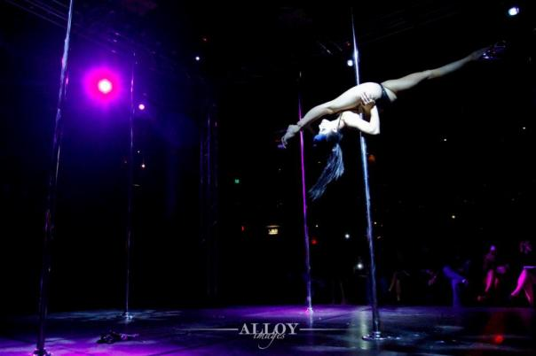Cleo at Pole Show LA 2014 - photo by Alloy Images